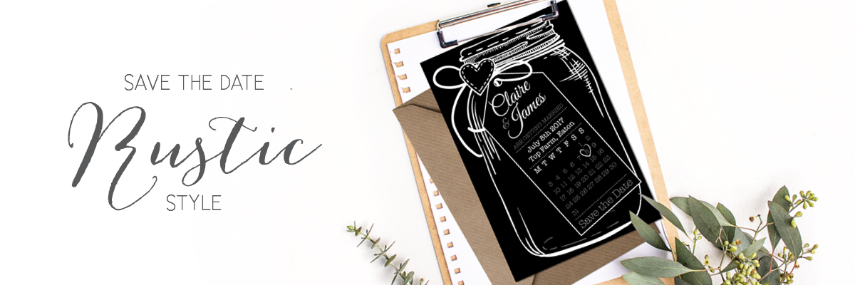 Save the date rustic style
